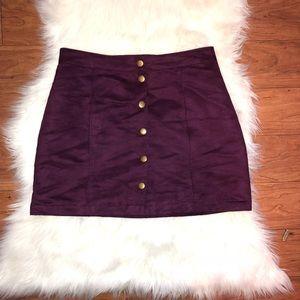Plum Buttom Up Skirt
